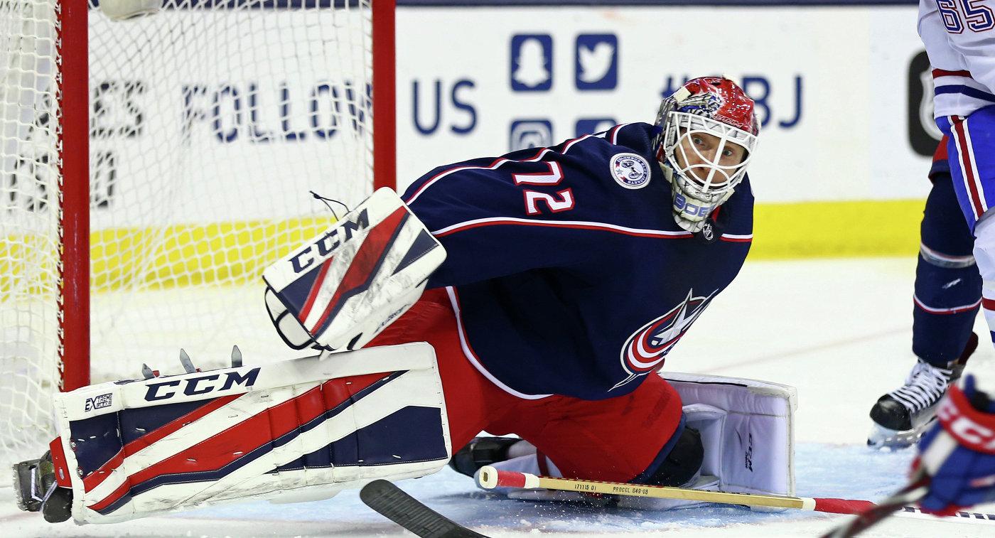 Бобровский подарил Коламбусу лучший ноябрь Хоккей. НХЛ